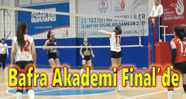 Bafra Akademi Final'de